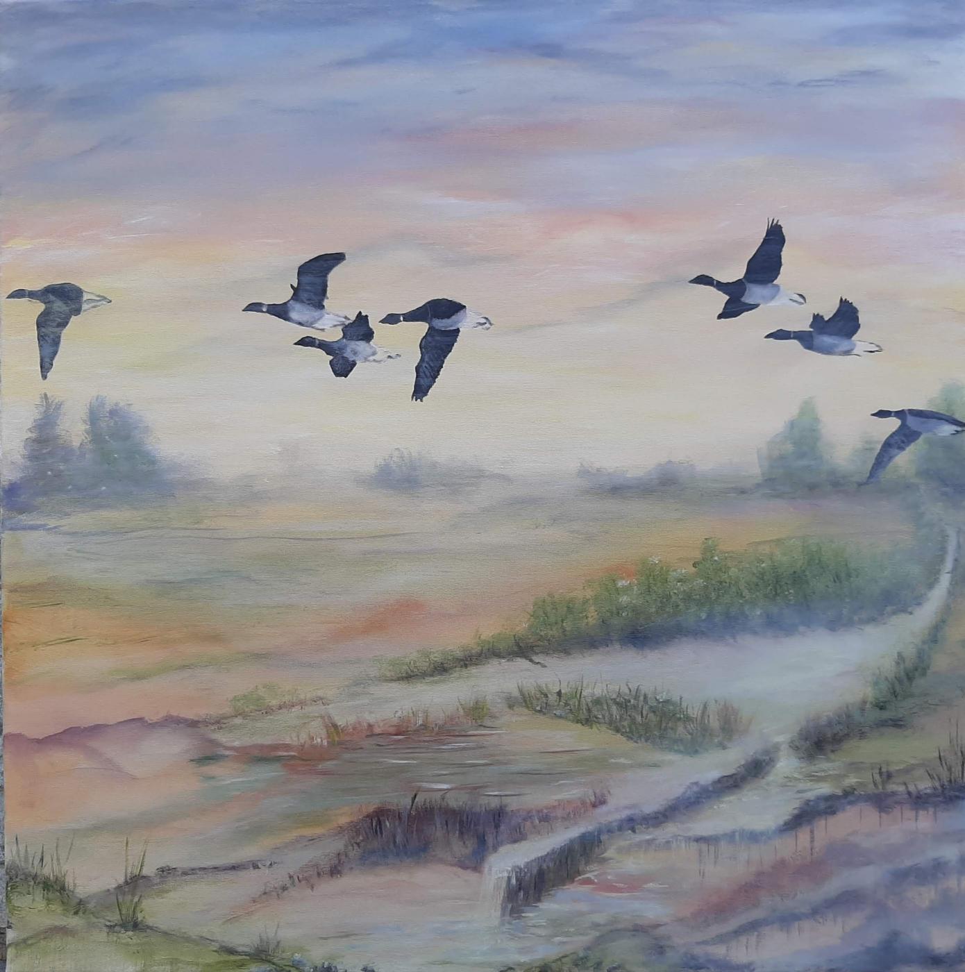 Trækfuglene | Maleri