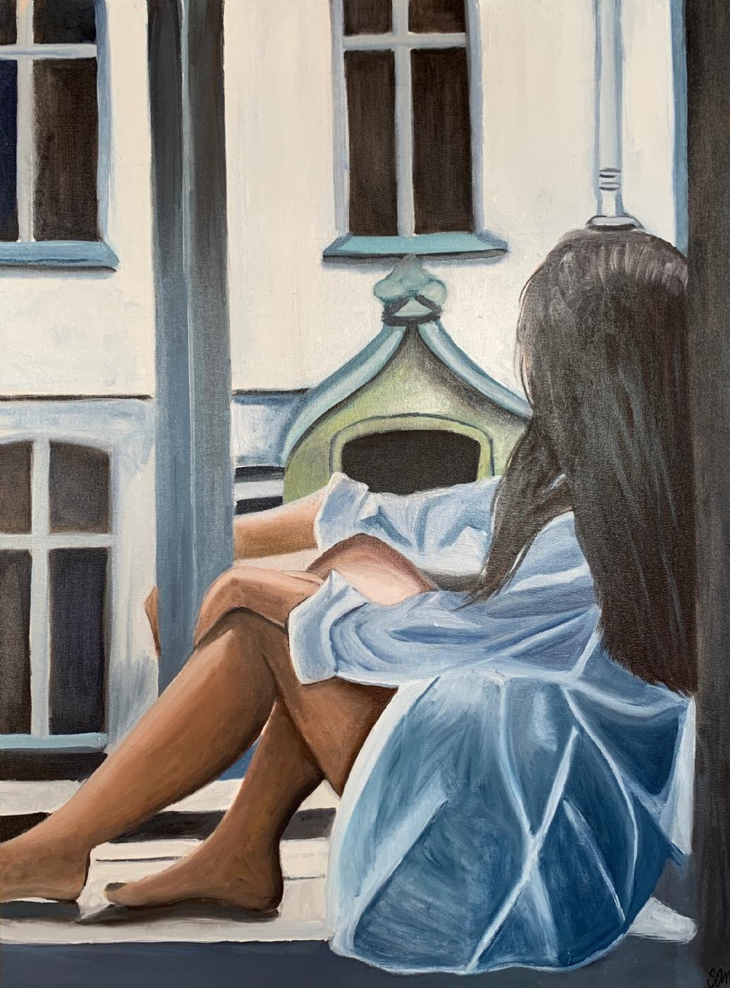 Kigger ud   Maleri