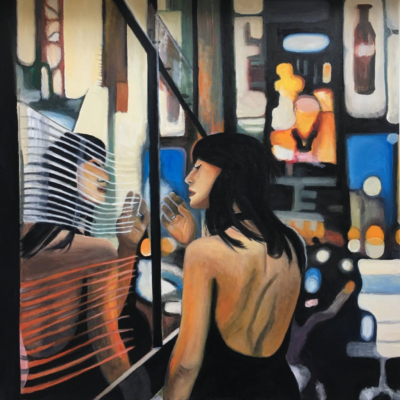 Nat i byen | Maleri