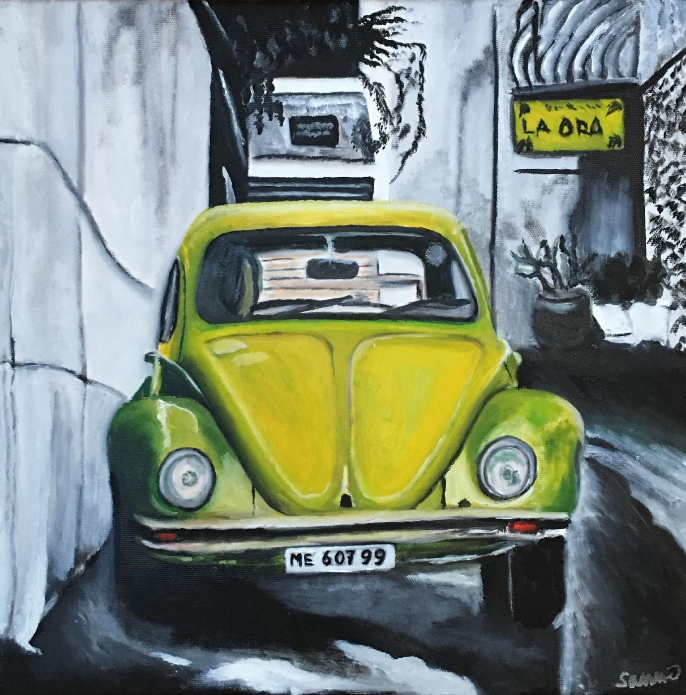 Lime bobbel | Maleri