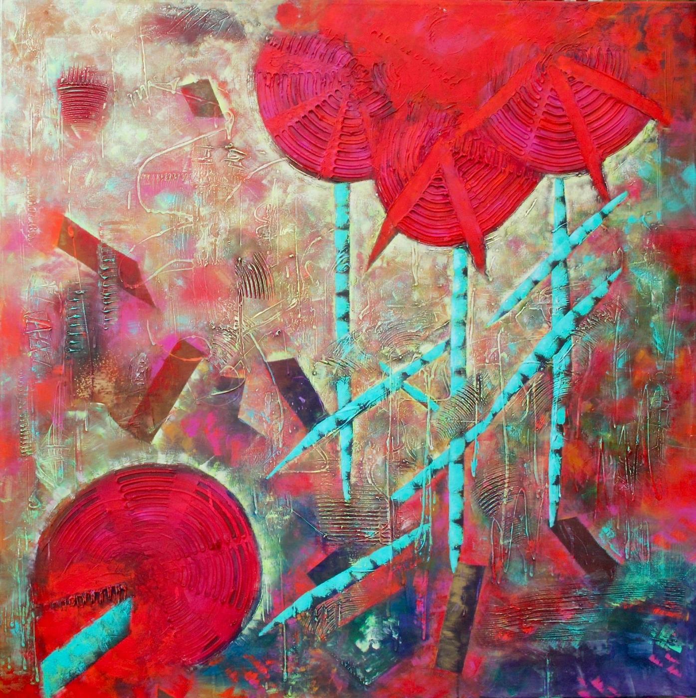 Red Flowers | Maleri