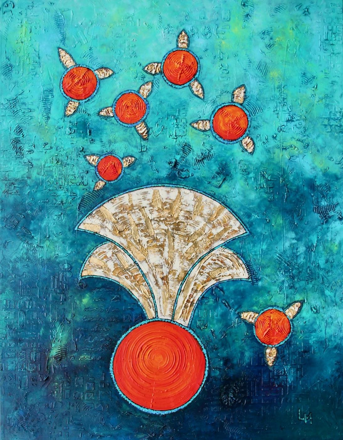 Turquoise harmony | Maleri