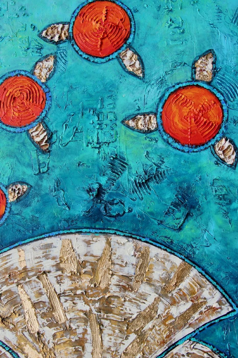 Turquoise harmony | Maleri | Detail 1