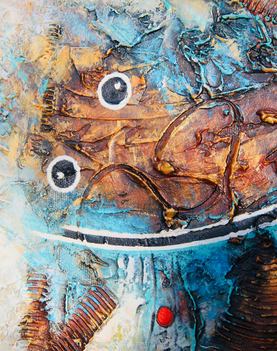 Curious Shrimp | Maleri | Detail 1