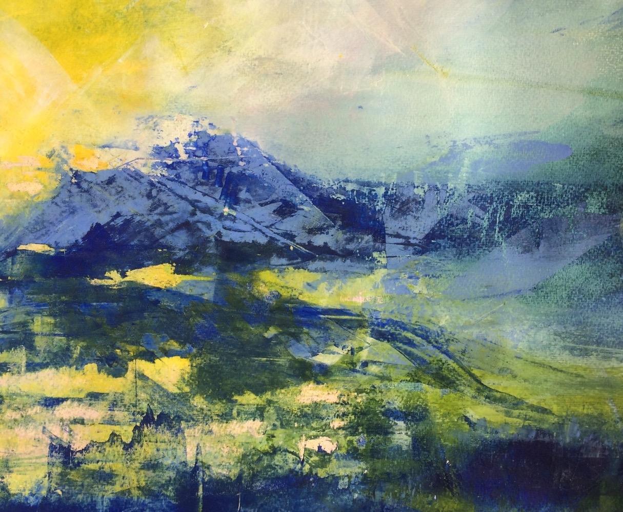 Abstrakt landskab 2 | Tegning