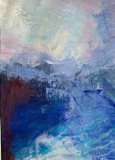 Blåt landskab 3 | Tegning
