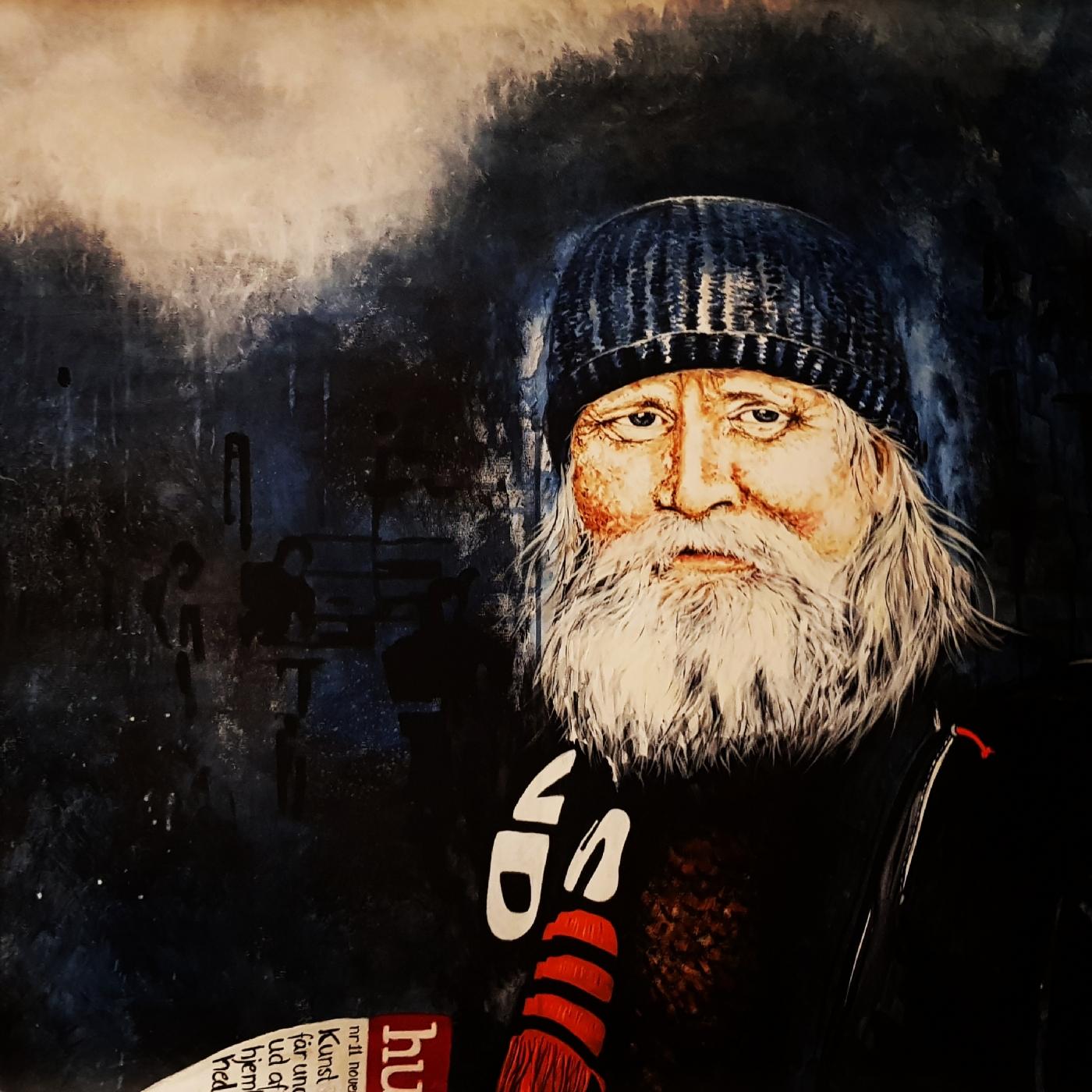 Hans-henrik, portræt af en hjemløs  | Maleri