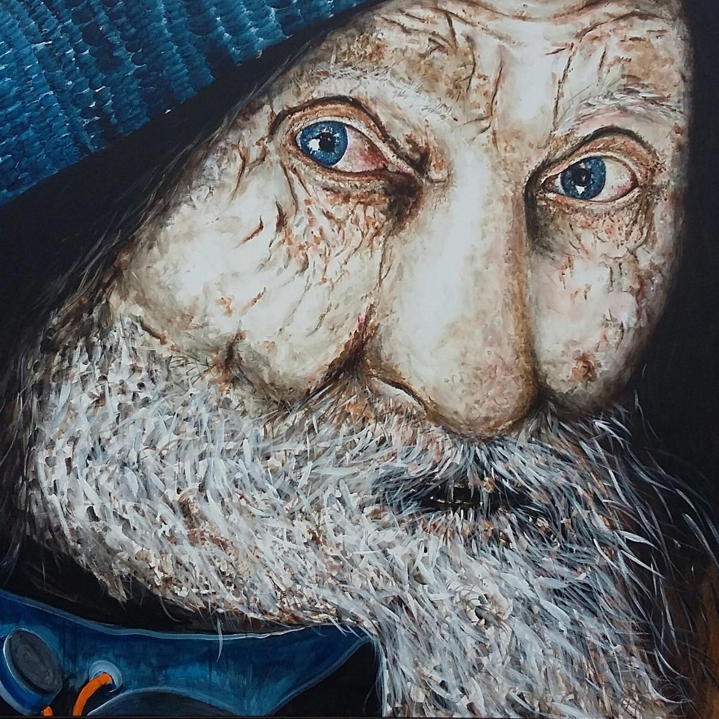 Hardy, portræt af en hjemløs  | Maleri