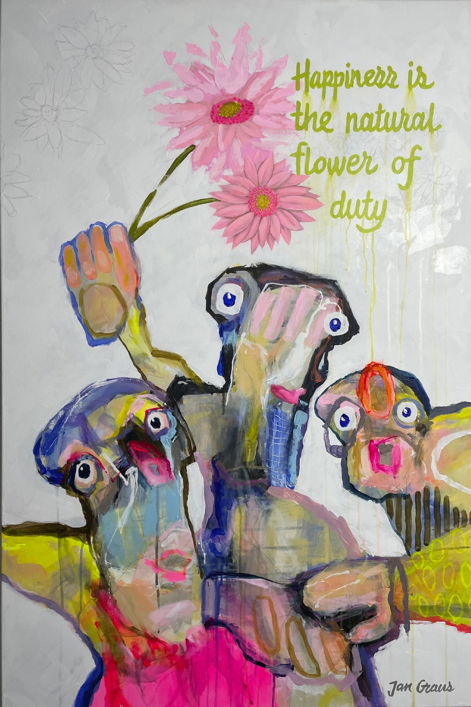 Happiness is the natural flower of duty | Maleri