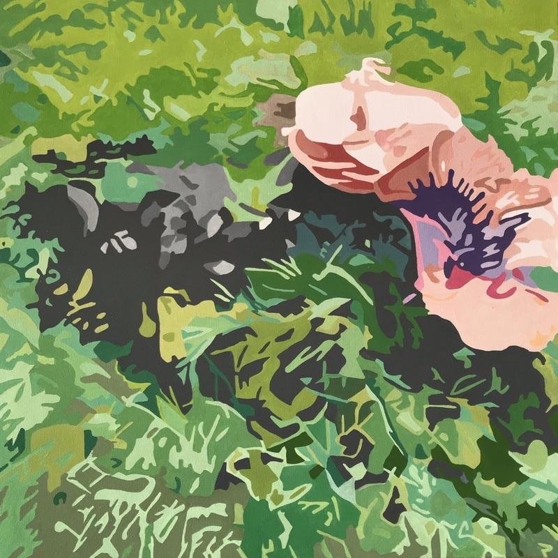Svampe i skovbund | Maleri
