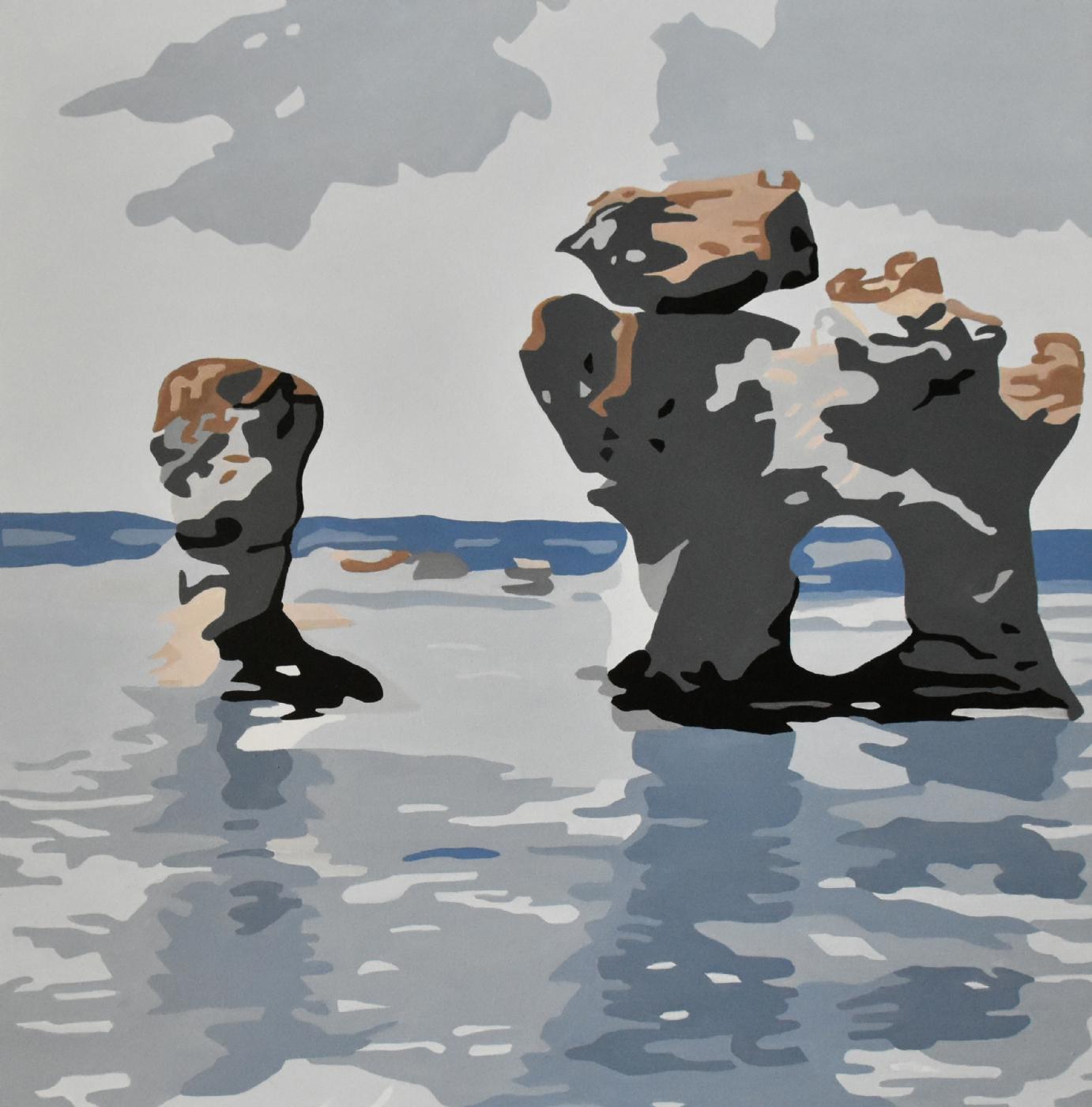 Rauker fra Fårø 'Hunden'   Maleri
