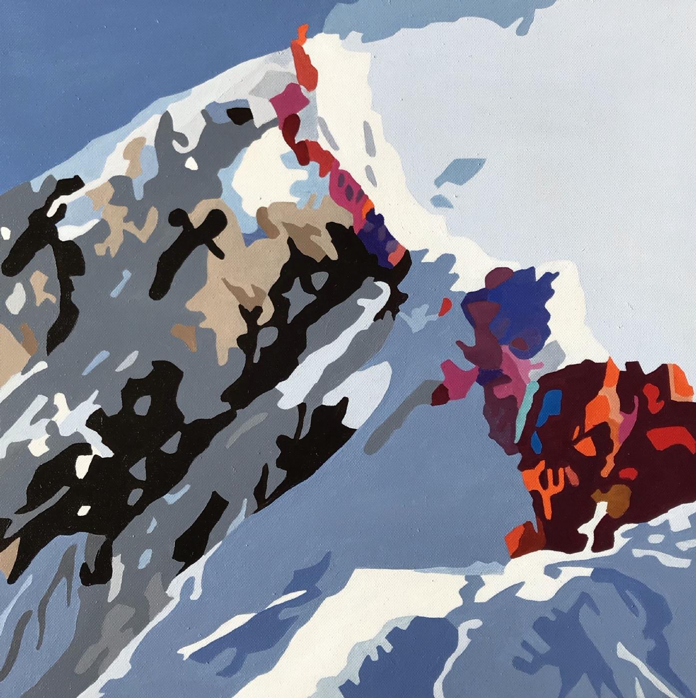 Everest - I kø | Maleri