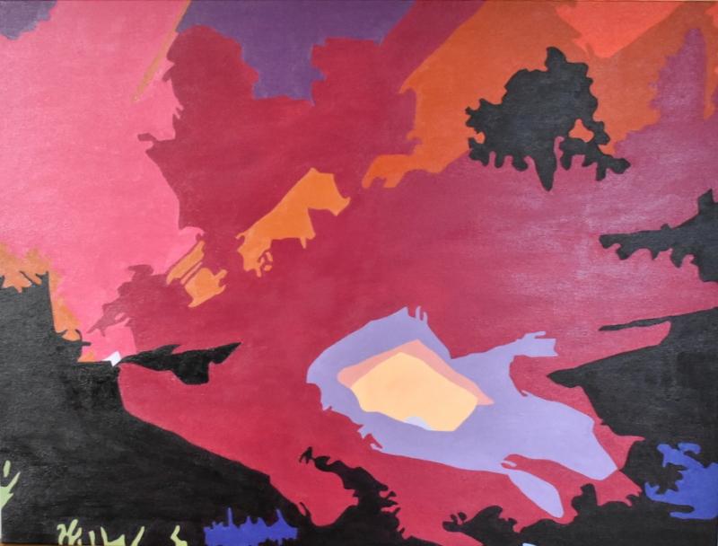 Aktiv Vulkan | Maleri