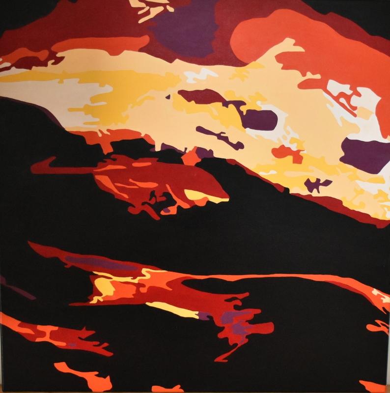 Vulkanudbrud | Maleri
