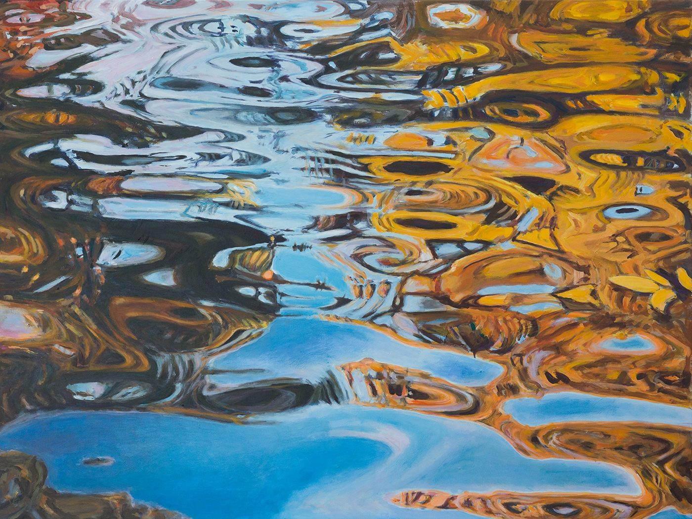 Autumn waterreflections | Maleri
