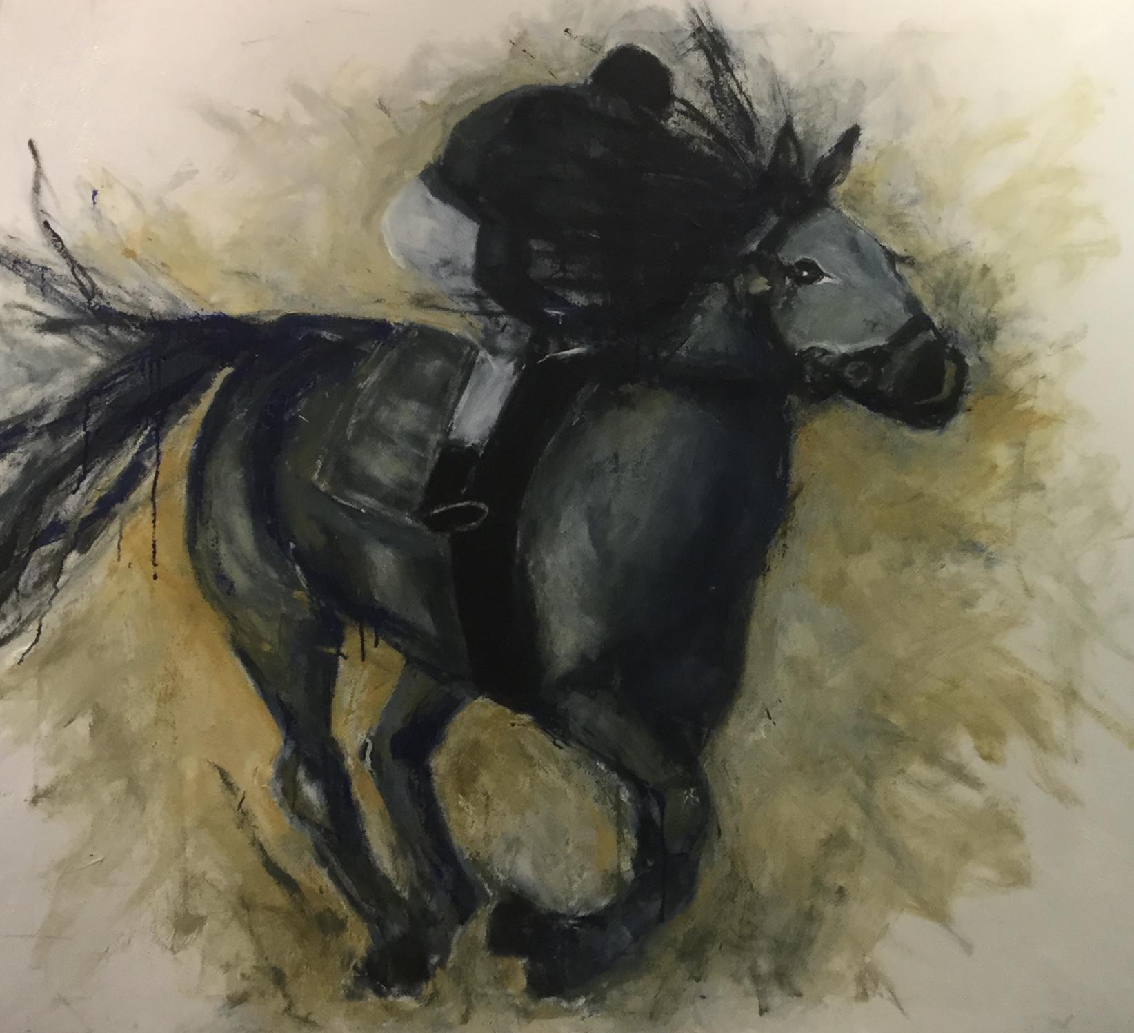 Hest og rytter | Maleri