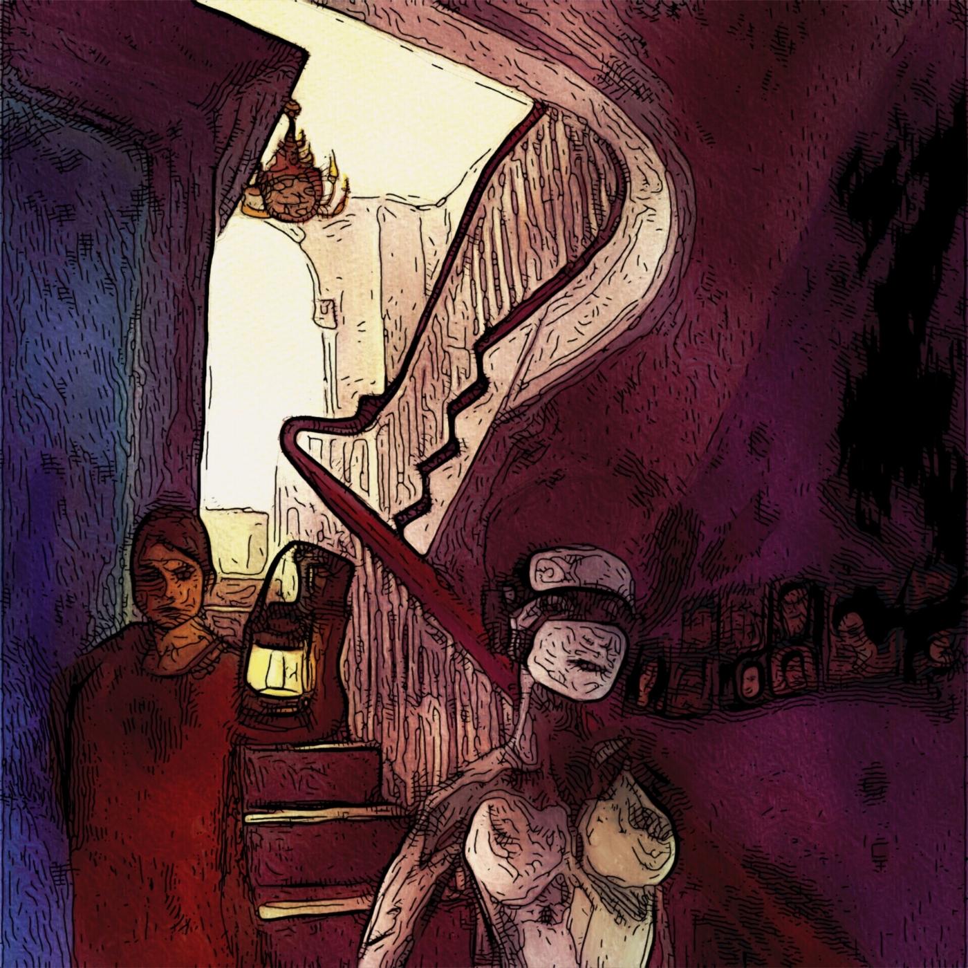 Lys ved trappen | Kunst