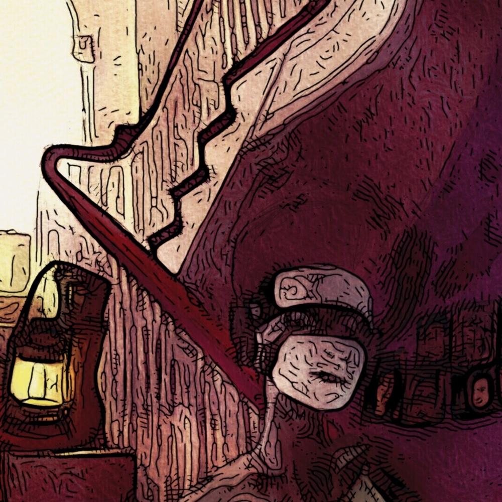 Lys ved trappen | Kunst | Detail 1