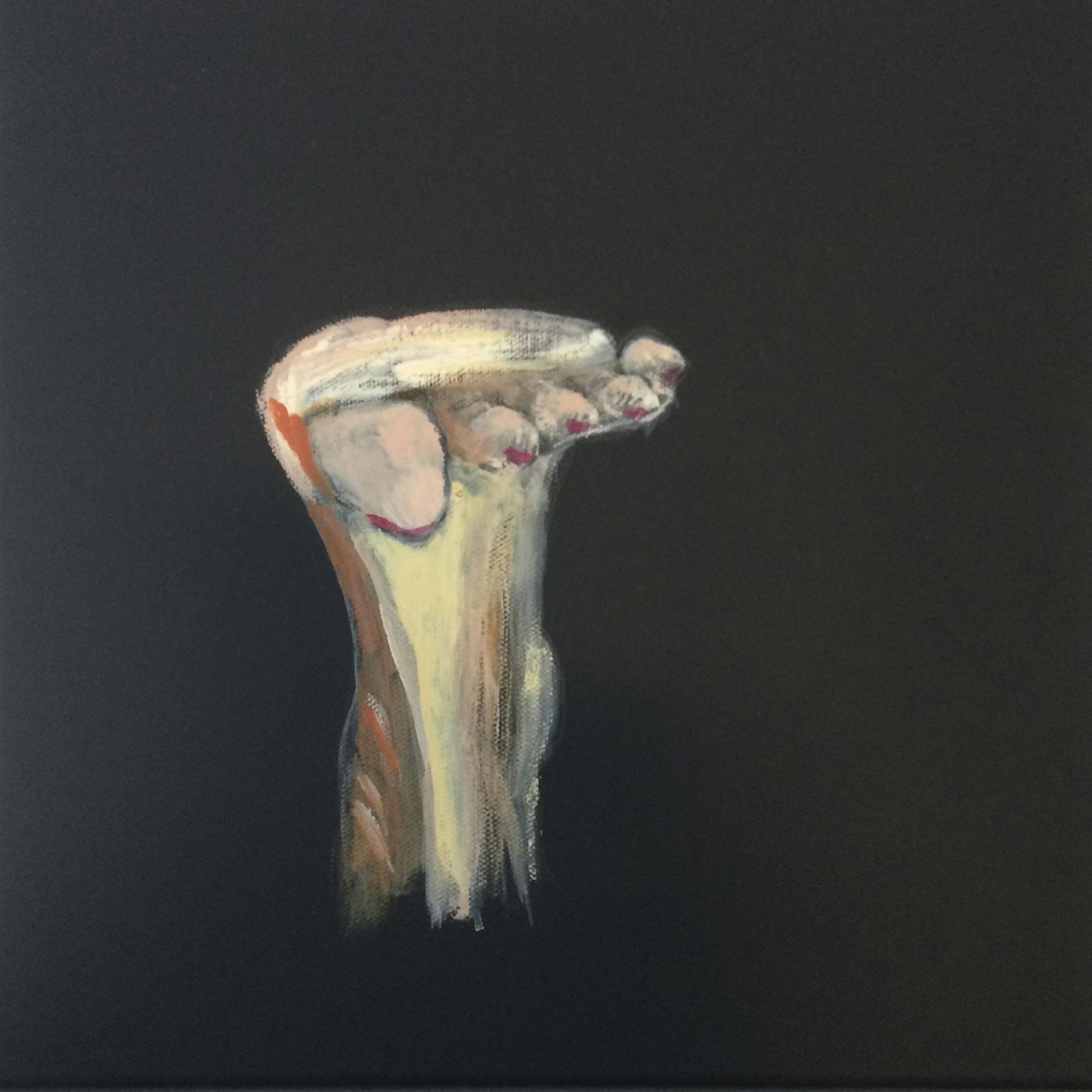 Bøjet fod | Maleri