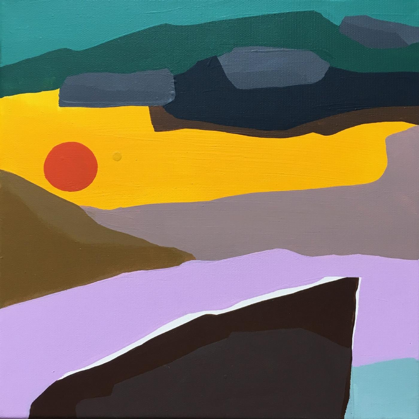Soleil Orange | Maleri