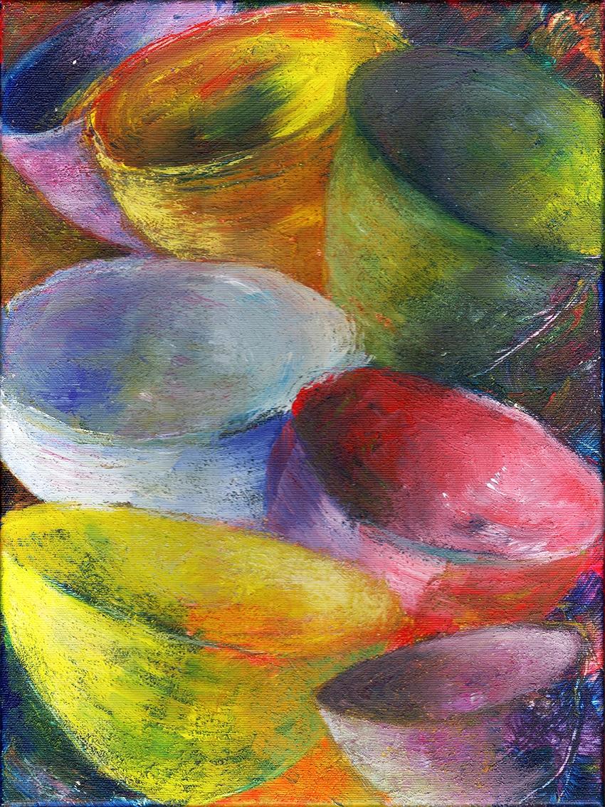 Blandede skåle (Mixed bowls) | Maleri