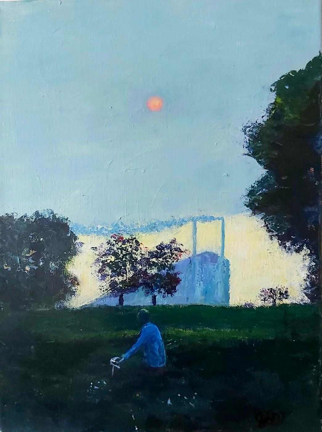 Rød sol  | Maleri