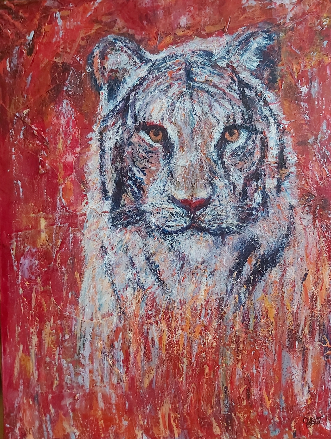 Tiger på vej | Maleri
