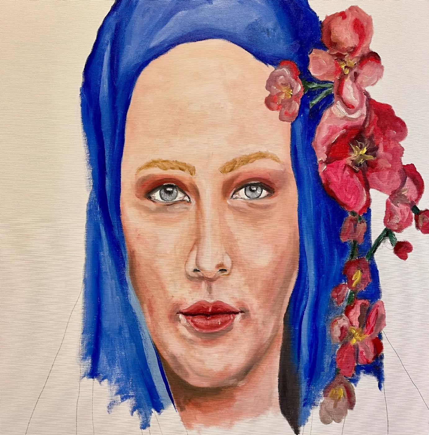 Pigen og orkideen | Maleri