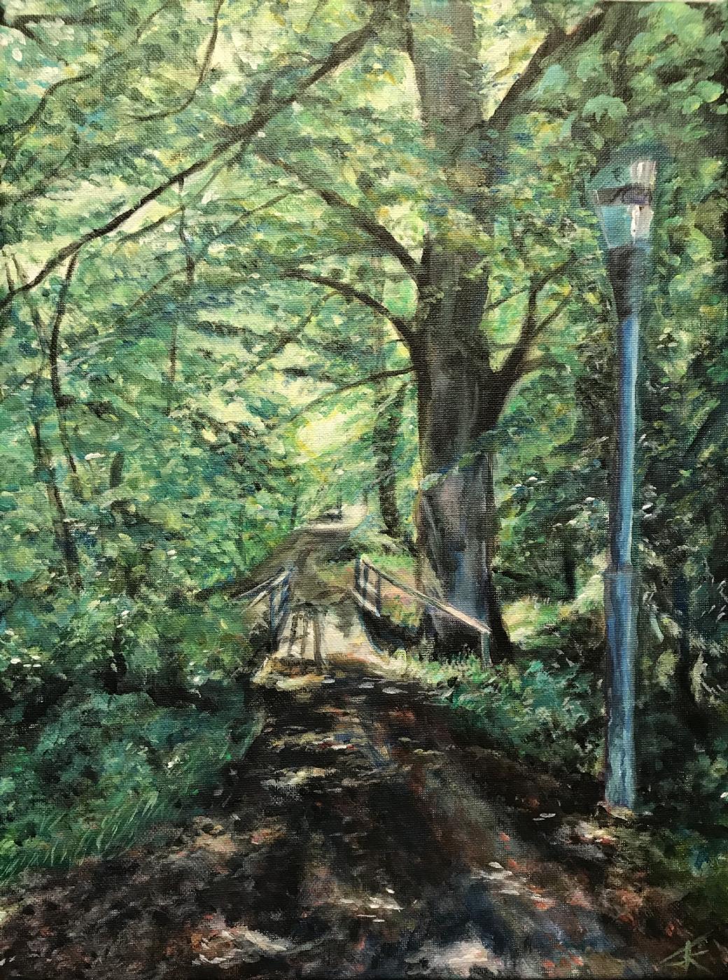 På vej mod lyset | Maleri