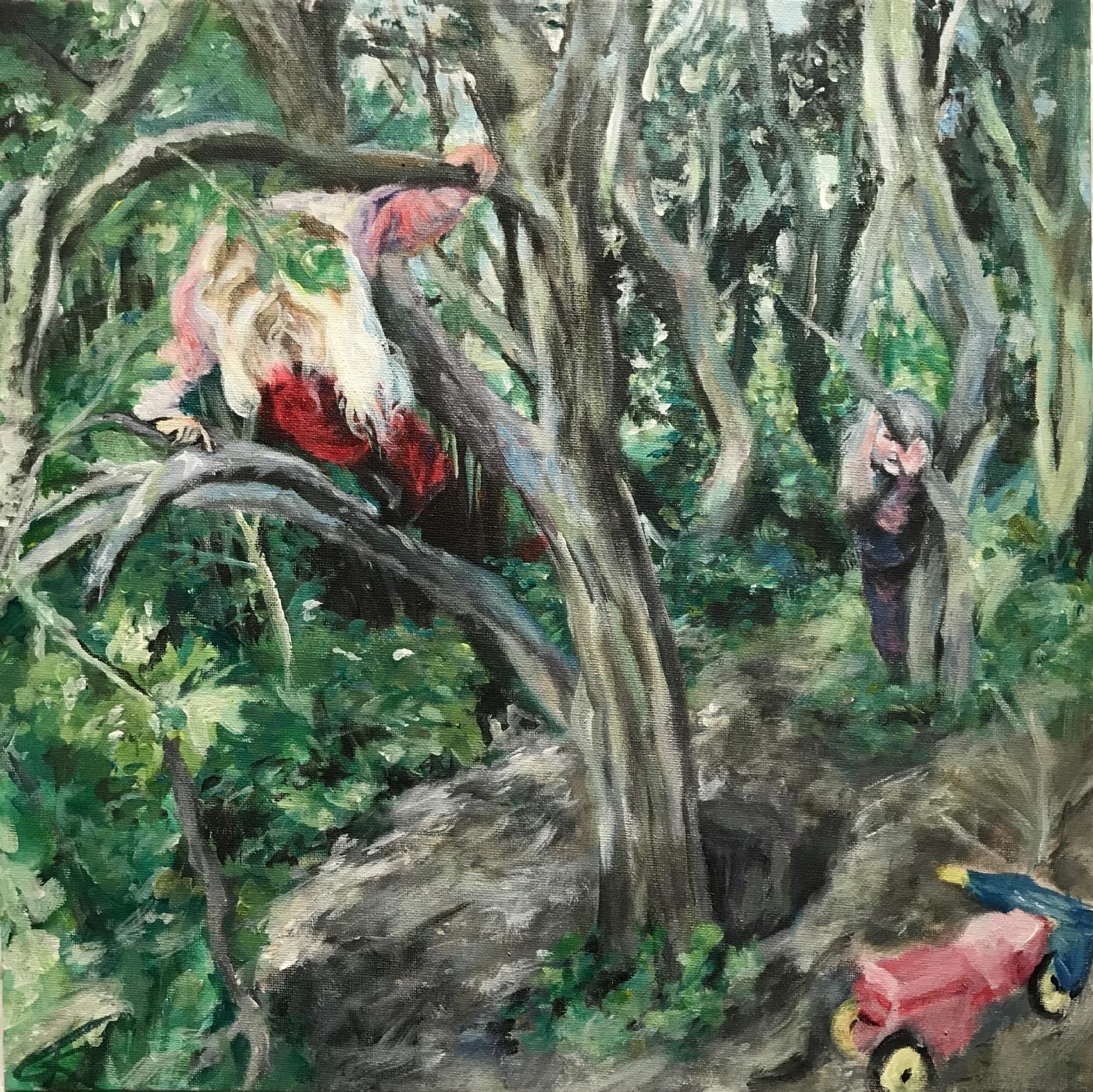 Klatren i træer | Maleri
