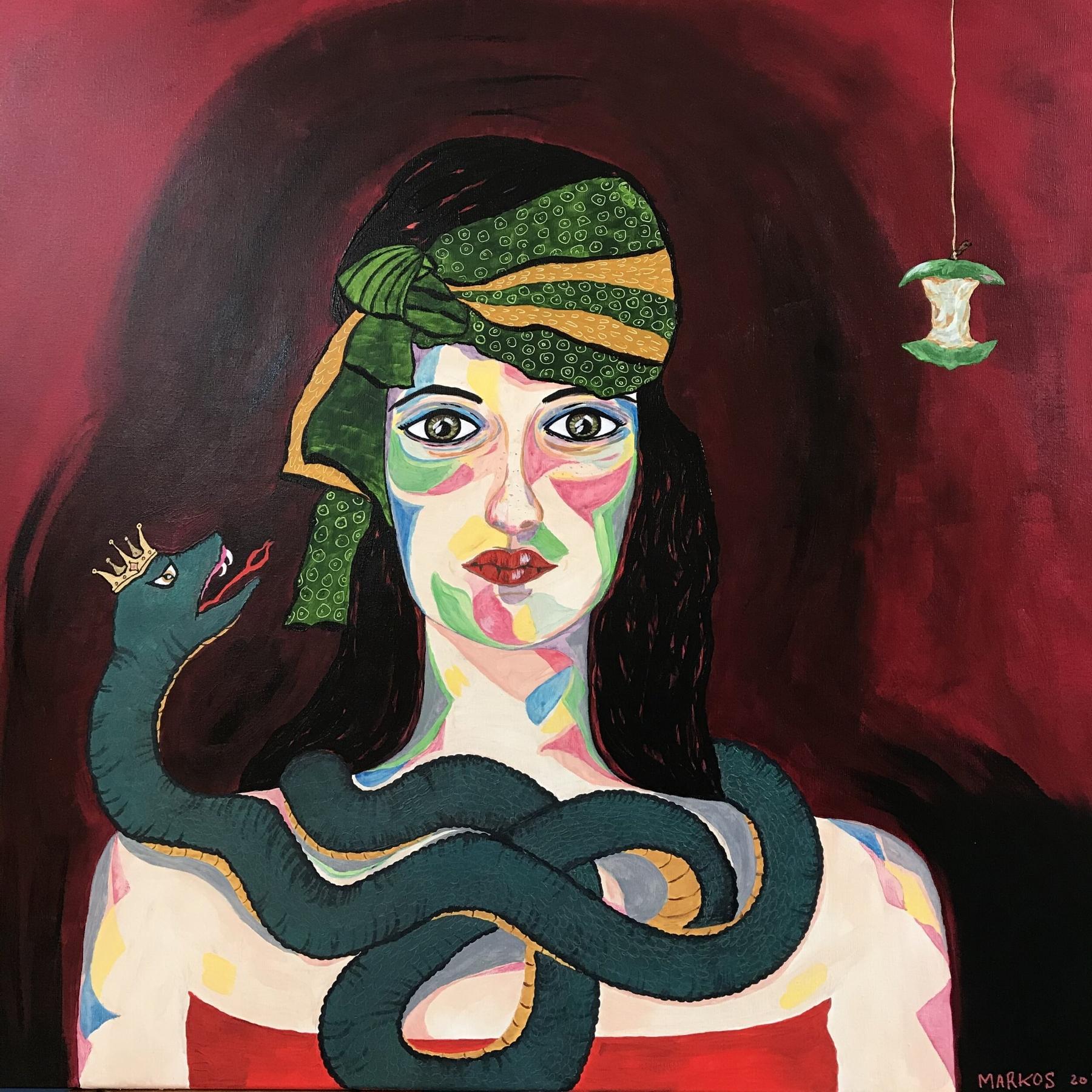 EVA OG SLANGEN | Maleri