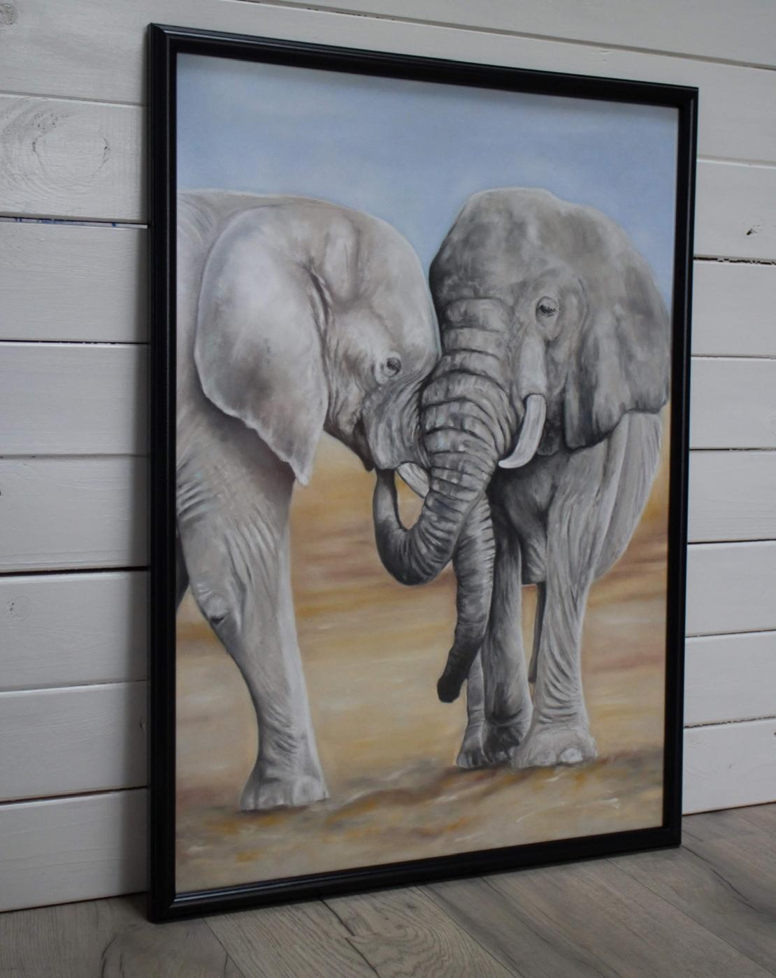 Elefanter | Maleri | Detail 1