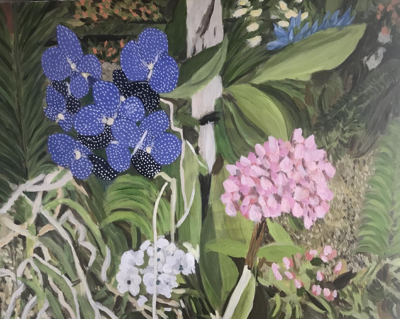 blomsterkomposition | Maleri