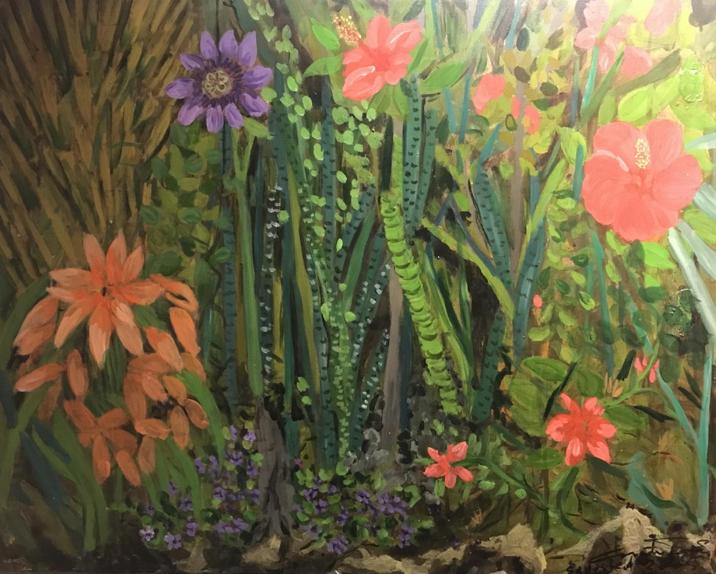 blomsterkomposition 3 | Maleri