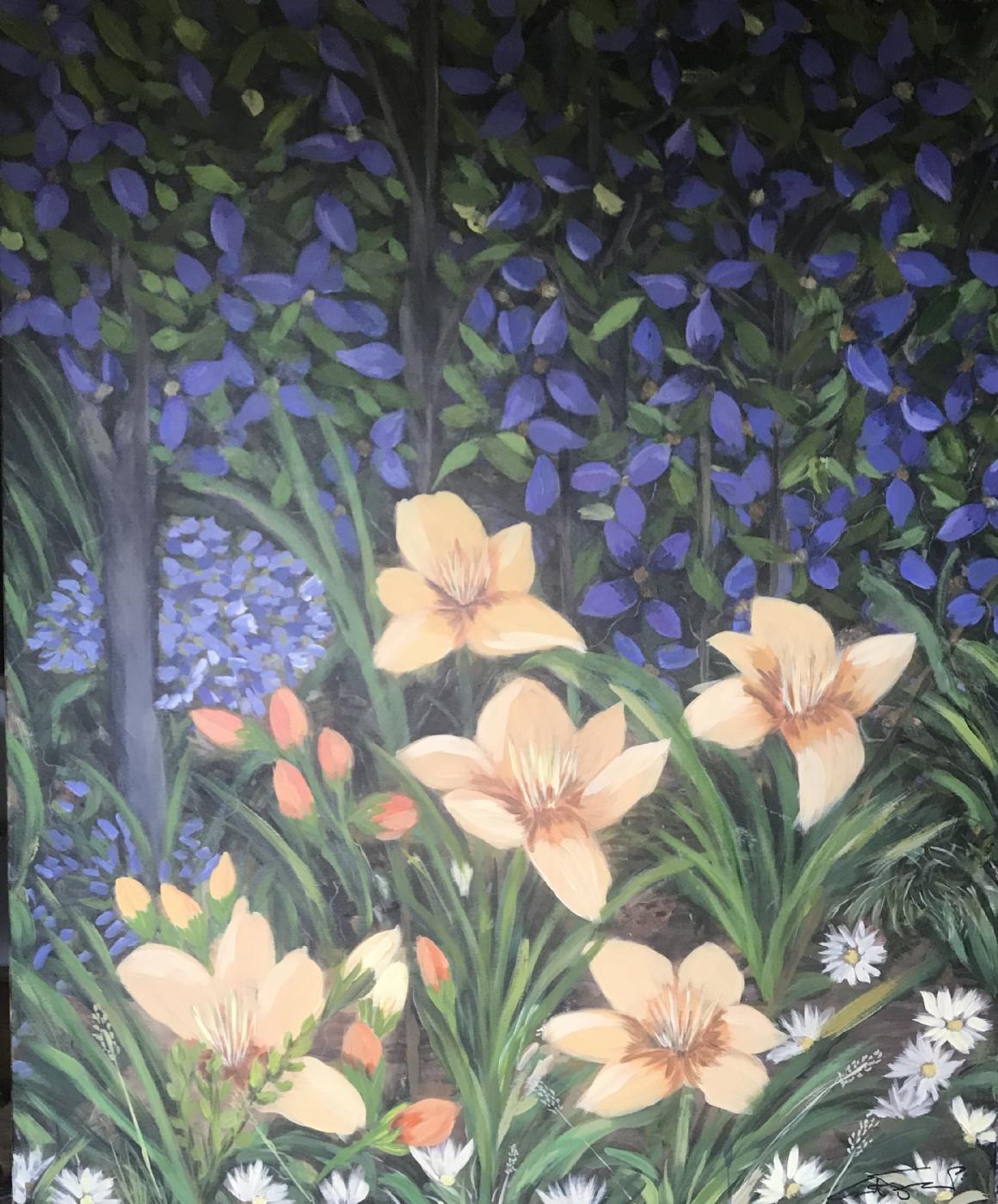 blomsterkomposition 4 | Maleri