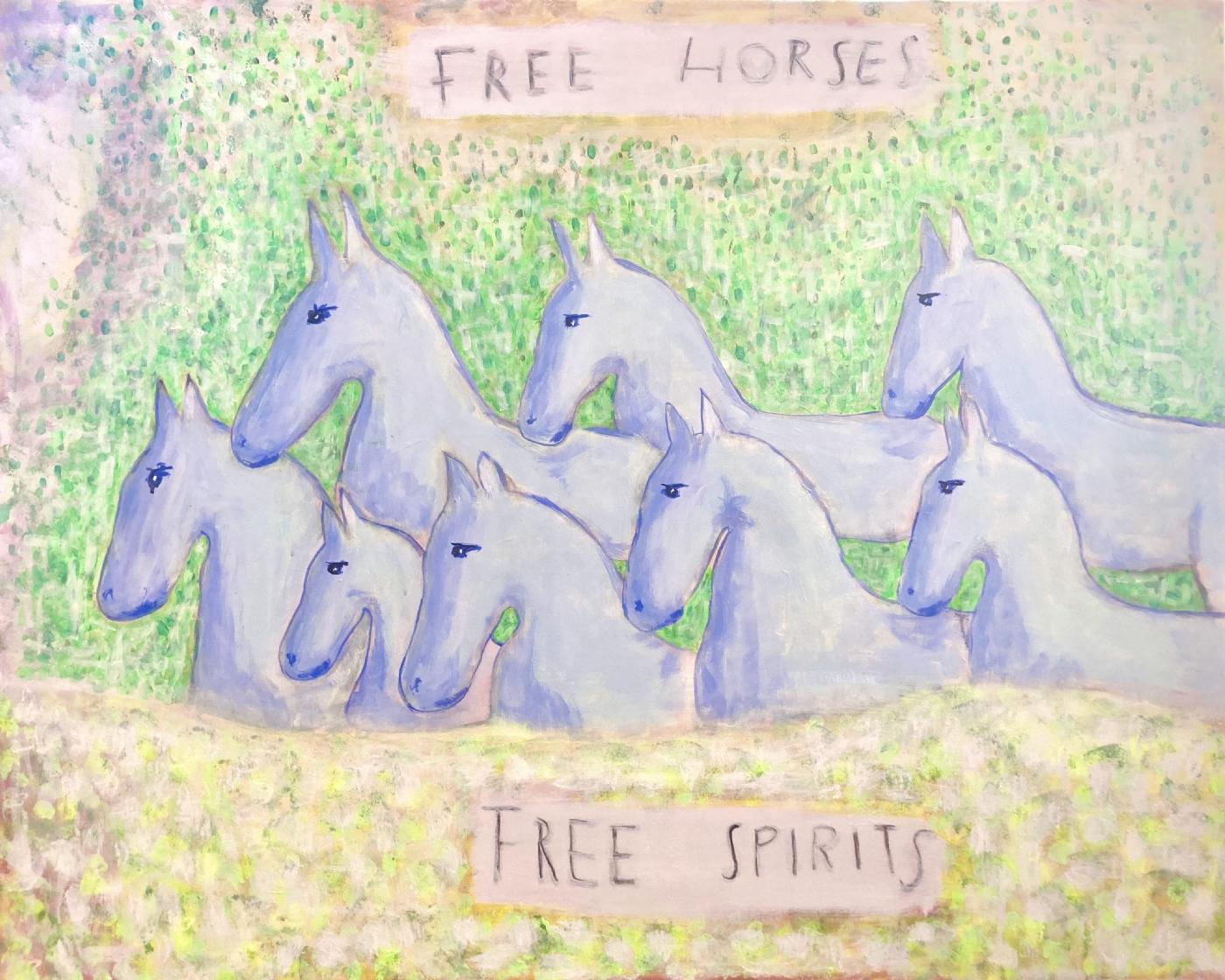 Free Horses - Free Spirits | Maleri
