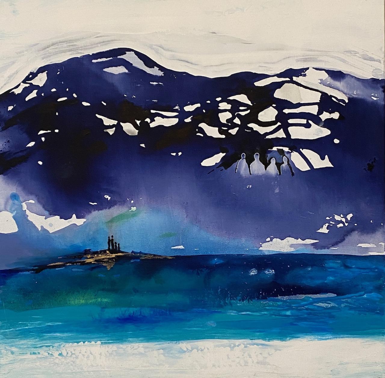 Generationer i blå | Maleri